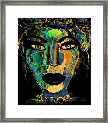 Face 16 Framed Print by Natalie Holland