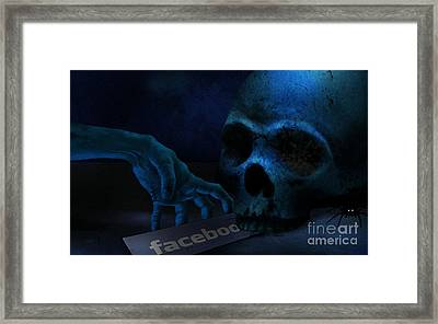 Face Boo Framed Print by Bedros Awak