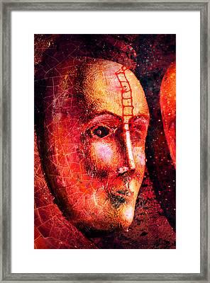 Face In The Dark Framed Print by Toppart Sweden
