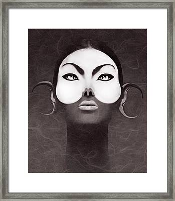 Face Moon Framed Print by Yosi Cupano