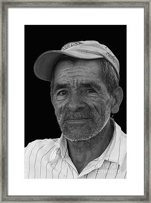 Face Of A Hardworking Man Framed Print by Heiko Koehrer-Wagner