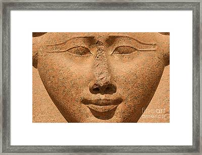 Face Of Hathor Framed Print by Stephen & Donna O'Meara