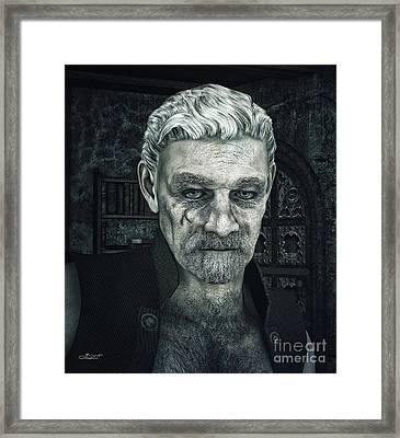 Face With A Story In It Framed Print by Jutta Maria Pusl