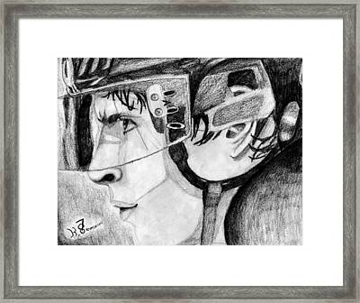 Faceoff Focus Framed Print by Kayleigh Semeniuk
