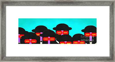 Faces In A Crowd Framed Print by Edward Fielding