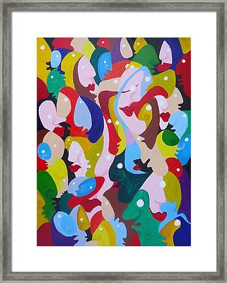 Faces In The Crowd Framed Print by Glenn Calloway