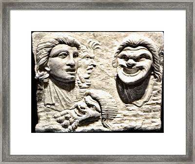 Faces Of Pompeii Framed Print by Bill Cannon
