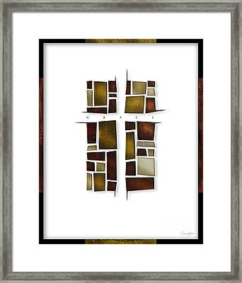 Facets Of Grace Framed Print by Shevon Johnson