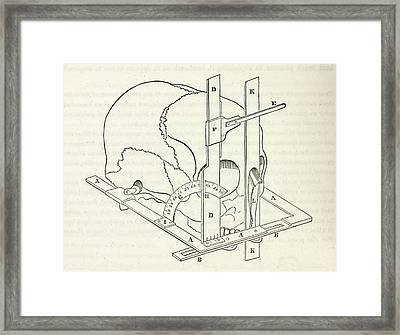 Facial Goniometer Framed Print by General Research Division/new York Public Library