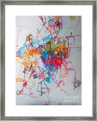 Facing Each Other 1 Framed Print by David Baruch Wolk