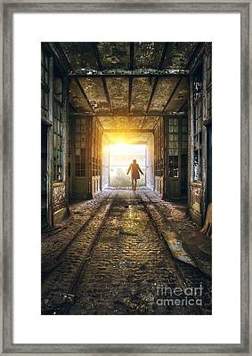 Factory Chase Framed Print by Carlos Caetano