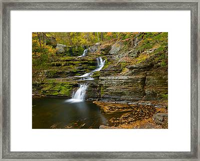 Factory Falls Framed Print by Mark Robert Rogers