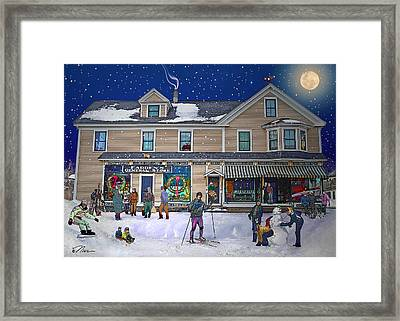 Faddens General Store In North Woodstock Nh Framed Print by Nancy Griswold