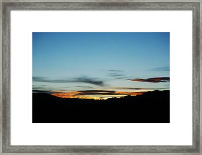 Fade To Night Framed Print by Marilyn Hunt