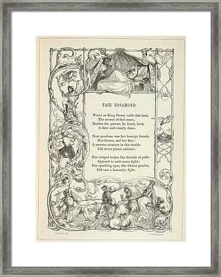 Fair Rosamond Framed Print by British Library