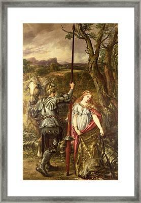 Fair St. George, 1881 Oil On Canvas Framed Print by Sir John Gilbert