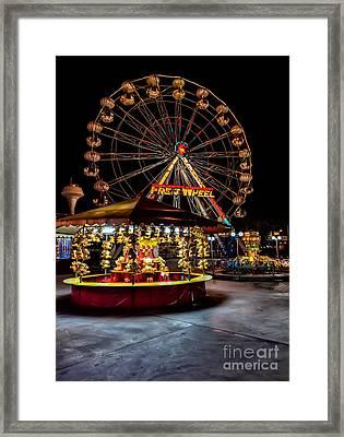 Fairground At Night Framed Print by Adrian Evans