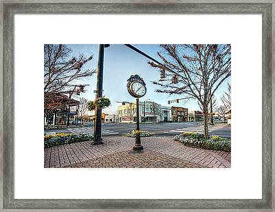 Fairhope Clock And 4 Corners Framed Print by Michael Thomas