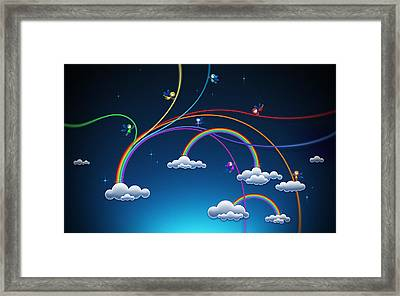 Fairies Made Rainbow Framed Print by Gianfranco Weiss