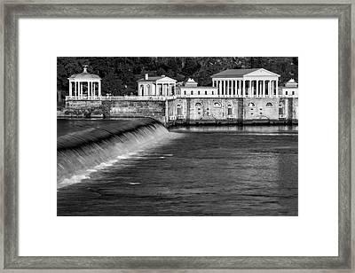 Fairmount Water Works Park Bw Framed Print by Susan Candelario