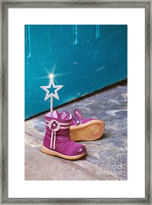 Fairy At The Door  Framed Print by Tim Gainey