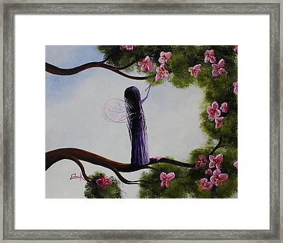 Fairy Blossoms Original Whimsical Art Framed Print by Shawna Erback