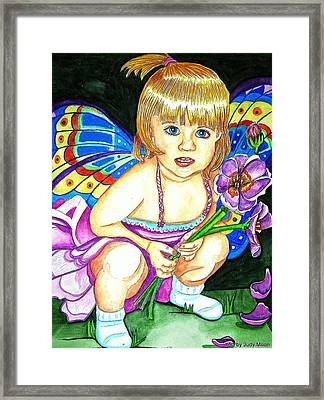 Fairy Child Framed Print by Judy Moon