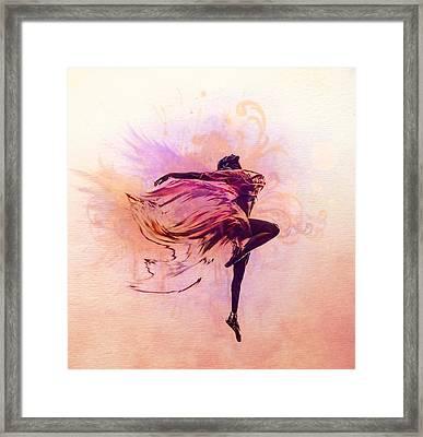 Fairy Dance Framed Print by Lilia D