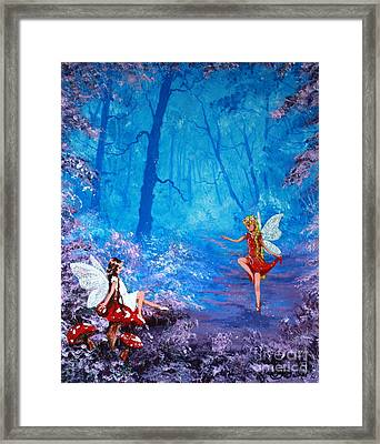 Fairy Dancer Framed Print by Jean Walker