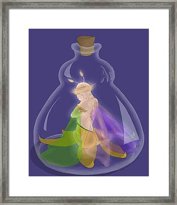 Fairy In A Bottle Framed Print by Kathi Day