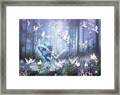 Fairy Queen Framed Print by Zorina Baldescu