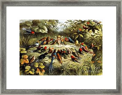 Fairy Rehearsal Framed Print by Photo Researchers