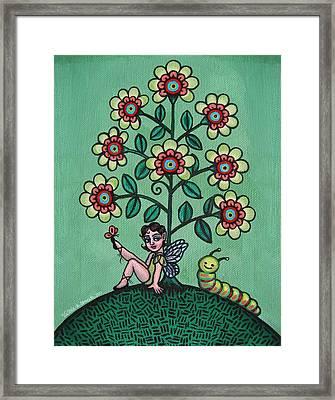 Fairy Series Katrina Framed Print by Victoria De Almeida