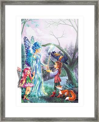 Fairy Wand Framed Print by Zorina Baldescu