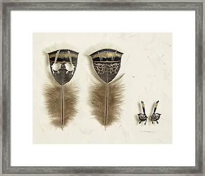 Fairy Wren Framed Print by Chris Maynard