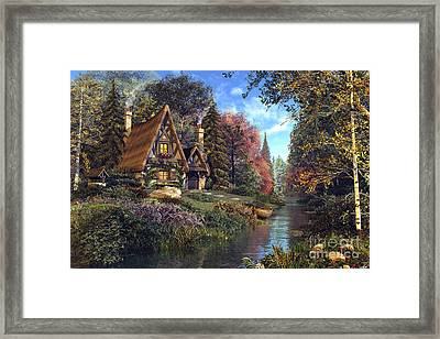 Fairytale Cottage Framed Print by Dominic Davison