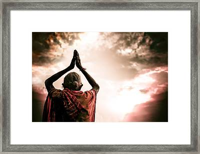Faith And Prayers For Peace Framed Print by Nila Newsom