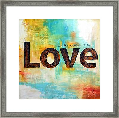 Faith Hope Love Framed Print by Ivan Guaderrama