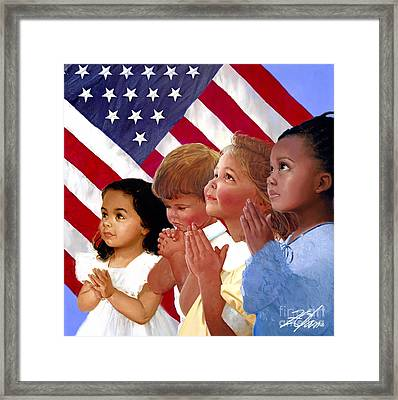 Faith In America Framed Print by Donald Zolan