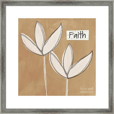 Faith Framed Print by Linda Woods