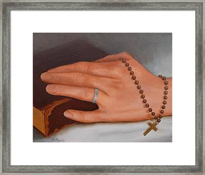 Faith Framed Print by Viktoria K Majestic