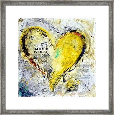 Faith With Out Actions Is Dead Framed Print by Ivan Guaderrama