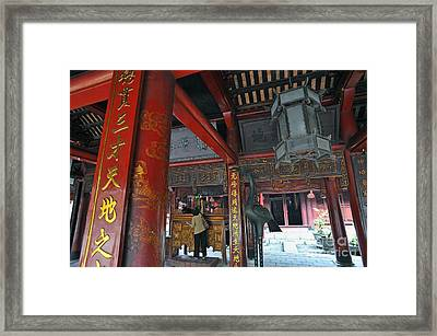 Faithfull In Temple Of Literature Framed Print by Sami Sarkis
