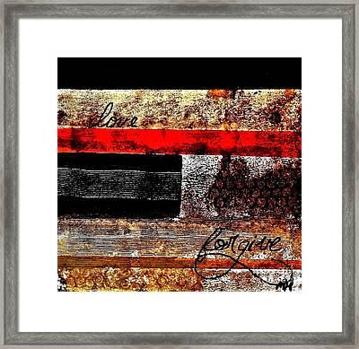 Fall Abstract Framed Print by Marsha Heiken