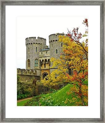 Fall Arrives At Windsor Castle Framed Print by David Lobos