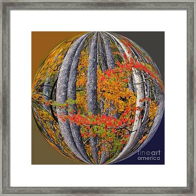 Fall Art Nouveau Framed Print by Scott Cameron