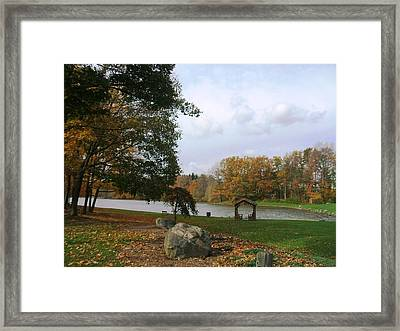 Fall At Green Lake Framed Print by Suzanne Perry
