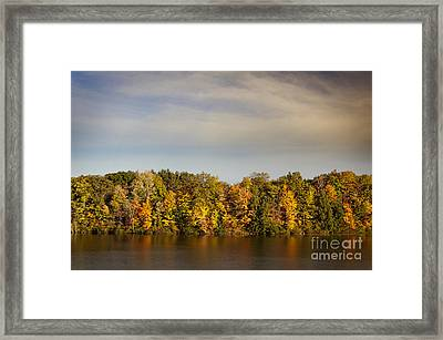 Fall At Lake Glacier Framed Print by Danielle Neil