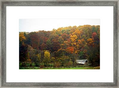 Fall At Valley Forge Framed Print by Skip Willits