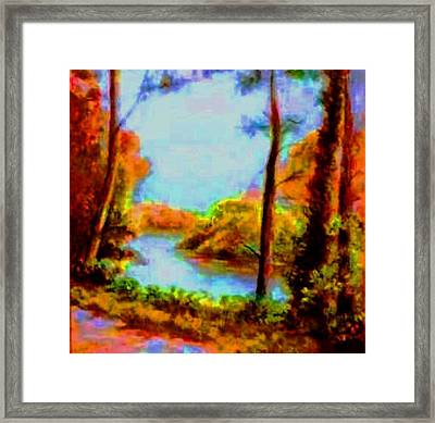 Fall Beauty Framed Print by Hazel Holland